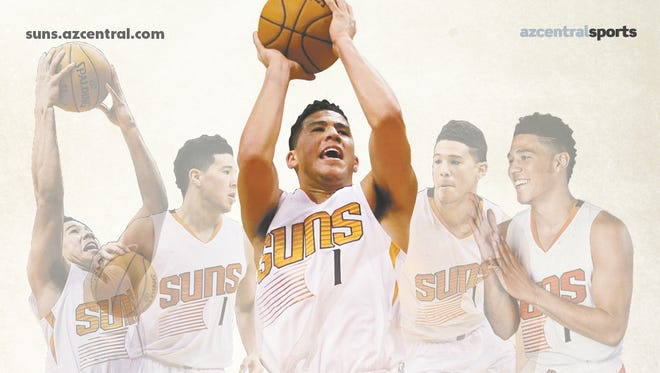 Devin Booker on the cover of the 2016-17 Suns preview.