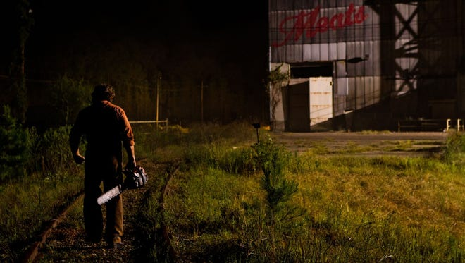 """Dan Yeager, who played Leatherface in 2009's """"Texas Chainsaw 3D,"""" will be at Throwbacks Sports Lounge in Hockessin on Oct. 29."""