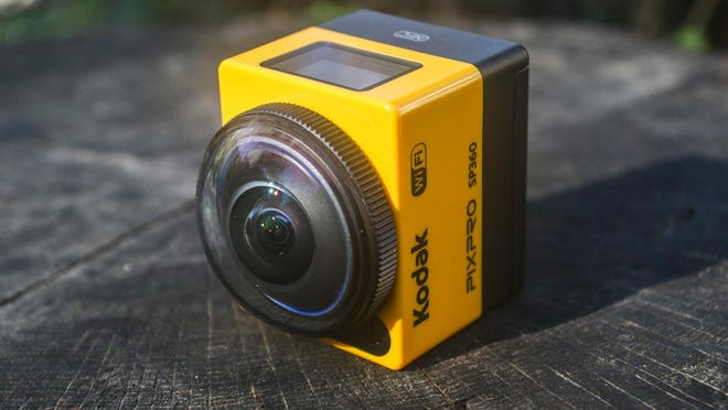 The Kodak PixPro SP360 action camera shoots HD footage through a curved spherical lens to give it a massive fisheye look at the world.