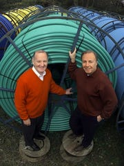 John Purcell, left, and Frank Chiano started Fibertech