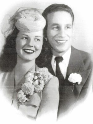 Harry and Shirley (Ryder) Prentis in 1945.