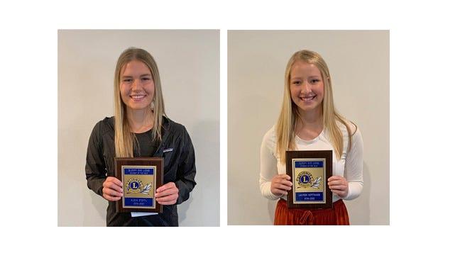 Alexa Steffl and Lauren Hoffmann were chosen as Sleepy Eye Lions Students of the Year.