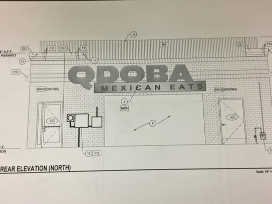 A rendering of the new Qdoba restaurant set to open