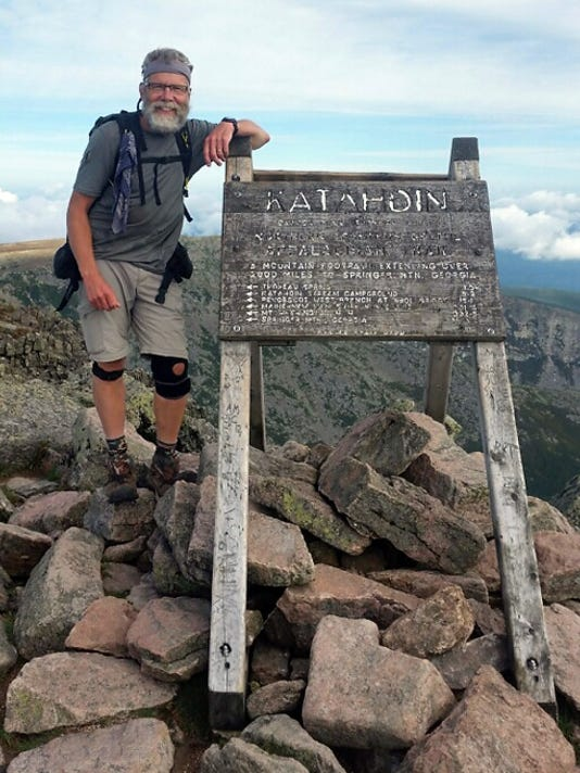 David Funkhouser hiked for five months to reach the northern terminus of the Appalachian Trail, Mount Katahdin in Maine.