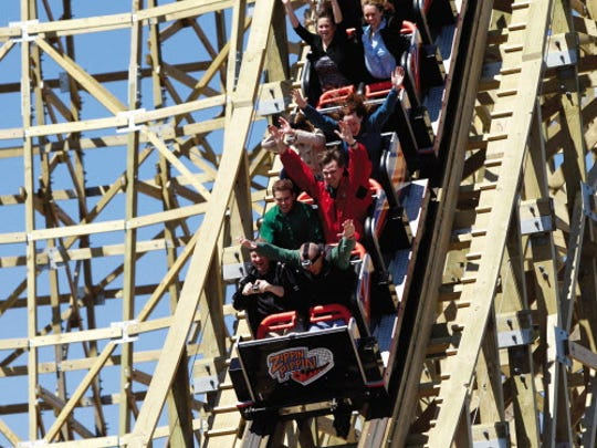 People get a taste of the first drop on the Zippin