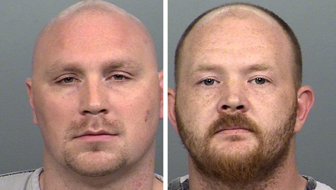 Kelly Spinks, Jr., left, and William Belew, Jr., right