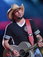 Jason Aldean performs at the 2018 CMA Music Fest Thursday, June 7, 2018, at Nissan Stadium in Nashville, Tenn.
