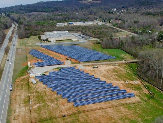 Furman University uses a 6-acre solar farm to compliment