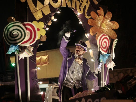 A float in the Festival of Lights Parade last year featured Willy Wonka.