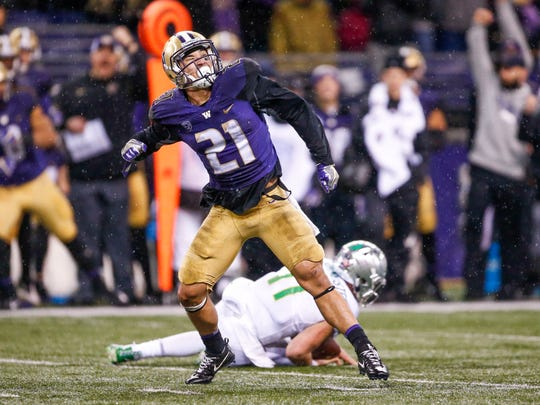 Washington safety Taylor Rapp was a first team All-Pac-12
