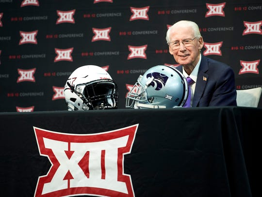 Kansas State football coach Bill Snyder speaks during