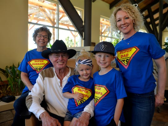 Terry Stiles, age 71, gets his 100th chemotherapy treatment