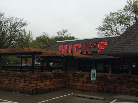 The patio at Nick's Italian.