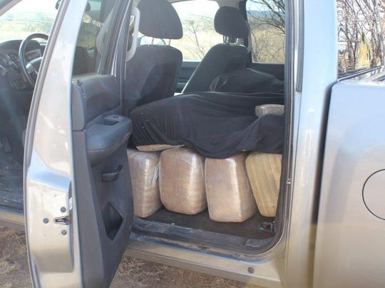 Marijuana was seized Monday morning from this pickup truck in southern Arizona, the U.S. Customs and Border Protection said.