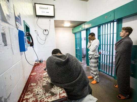 Space needs, strict holding orders contribute to record setting number of Dallas County prisoners. Inmates in a cell block in the jail Friday Feb 27, 2015.