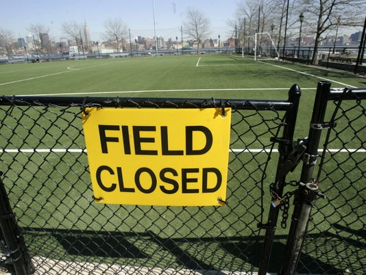 Turf field closed