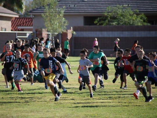 At the VVES Pumpkin Run Friday, students dash for the