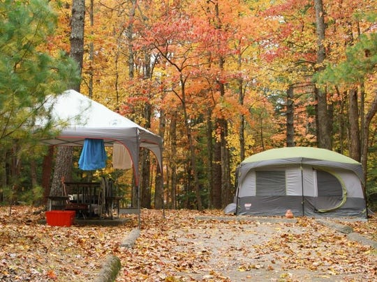 Great Smoky Mountains National Park had 1.37 million visitors in October 2015, spending time in places like Cades Cove Campground, seen here.