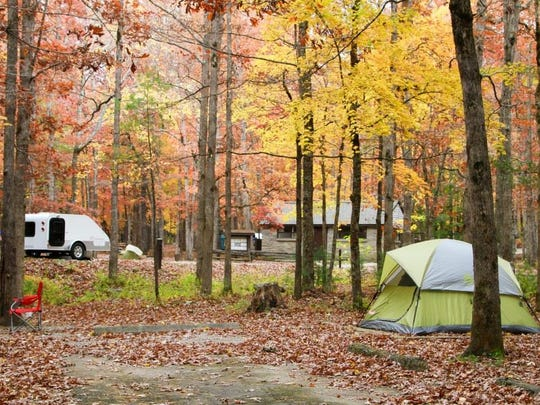 Great Smoky Mountains National Park had 1.37 million visitors in October 2015, spending time in places like Cades Cove Campground, seen here. More than 50,000 visitors camped in the park's nine front-country campgrounds.