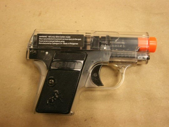 An airsoft gun was used in the Indiana training.