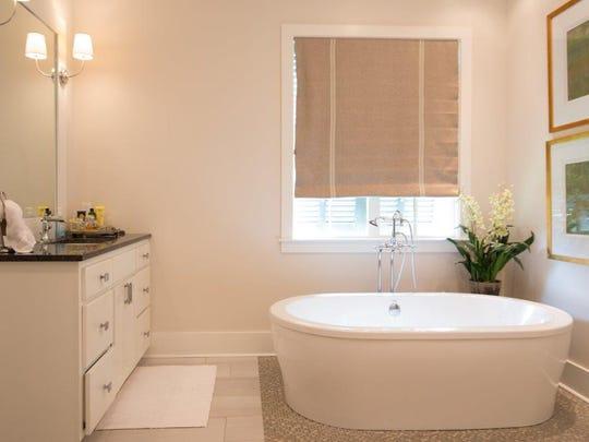 Simple clean lines make this bathroom a serene retreat.