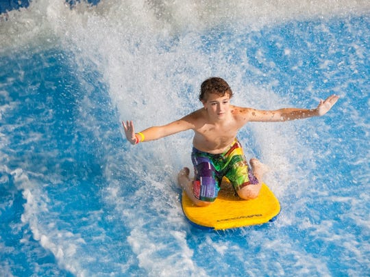 Brush up on boogie-boarding skills on the FlowRider.