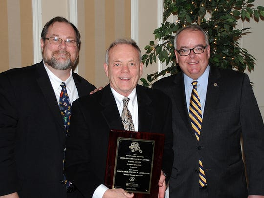The York County Bar Association/Foundation honored Judge Stephen P. Linebaugh with the PBA Chief Justice Ronald D. Castille Award at an annual recognition dinner.