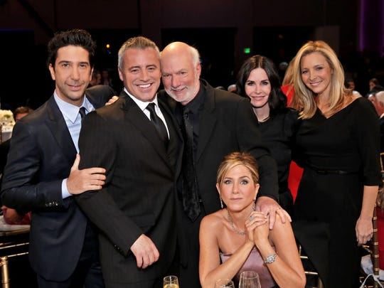 Our favorite 'Friends' pose during NBC's special, 'Must