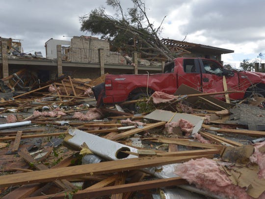 Damage at The Moorings in Pensacola after severe storms