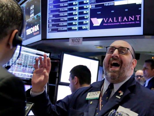 AP FINANCIAL MARKETS WALL STREET EARNS VALEANT PHARMACEUTICALS F A USA NY