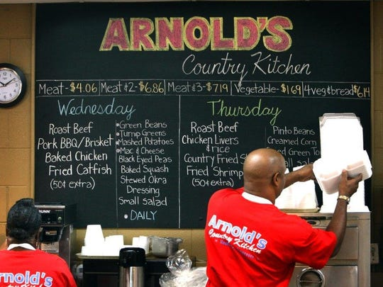 Eighth Avenue South - Arnold's Country Kitchen: This iconic, family-run meat and three is a Nashville mainstay with down-home dishes such as roast beef, fried chicken, macaroni and cheese and greens.