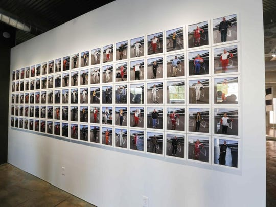 Photos from the People's 500 exhibit by artist Jesse Sugarmann on display during First Friday at the Big Car Tube Factory Art Space.
