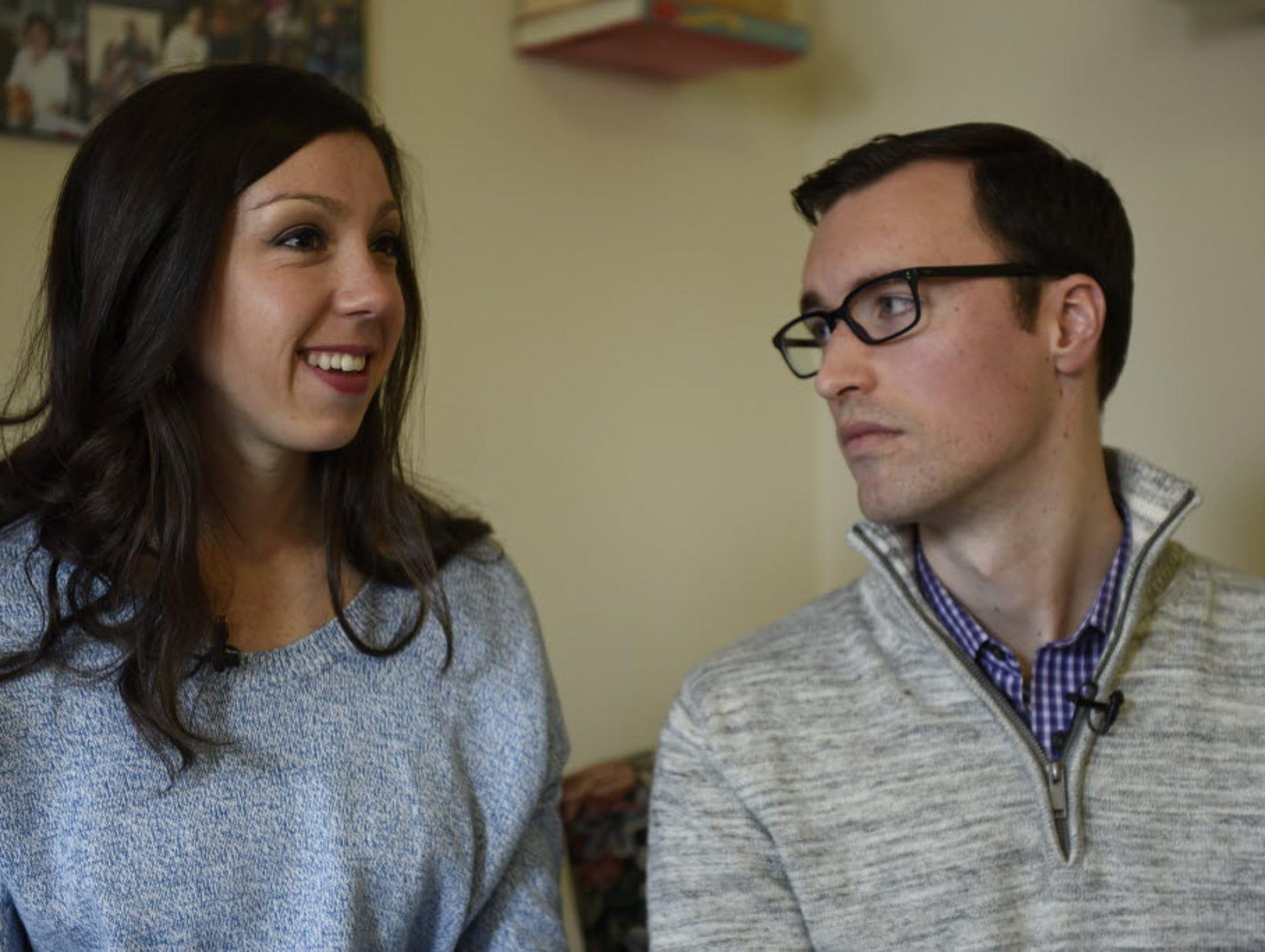 Elizabeth and David Glidden, both 26, talk about the