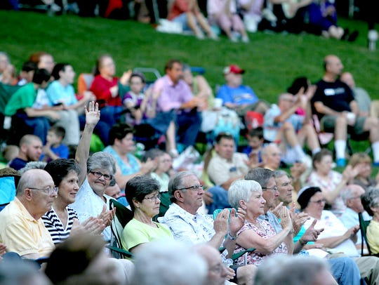 Spectators from all over come to enjoy Gospel music