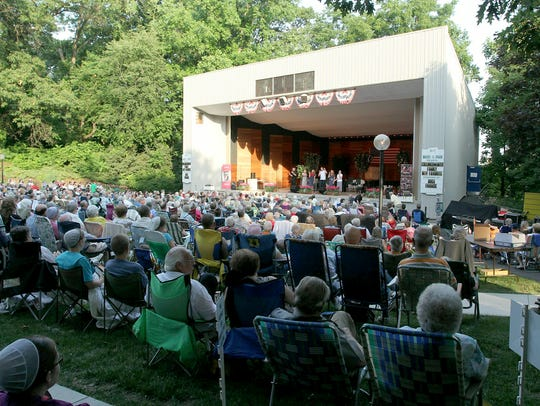 "A new season of ""Music in the Park"" begins Sunday with"