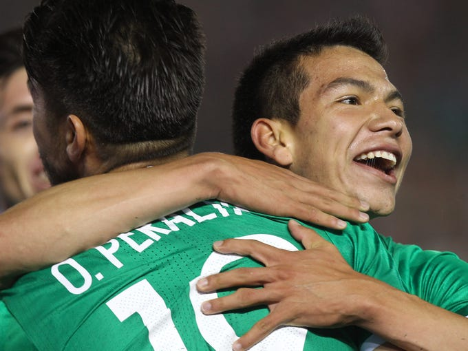 Mexico in green jersey beat Jamaica during the Copa e11825a08