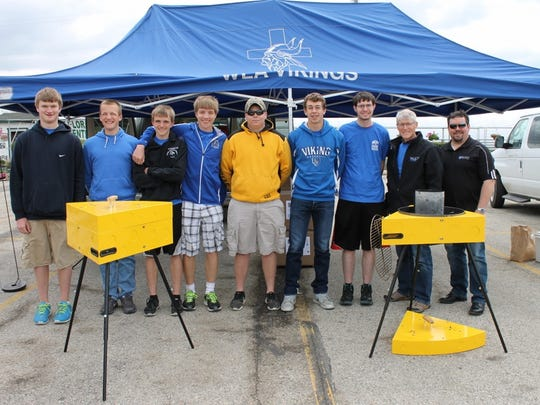 The Winnebago Lutheran Academy – Nemesis Metals team created a cheese wedge grill perfect for a Green Bay Packer's tailgate.