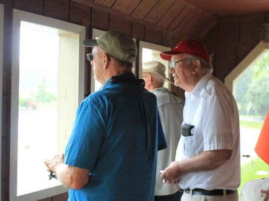 Skippers completed the event from the shelter of the covered bridge as thunderstorms arrived.