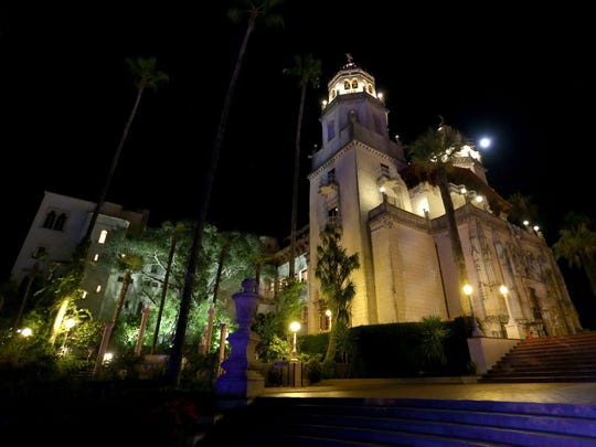 A general view of the atmosphere at the Hearst Castle