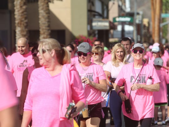 The 10th Annual Paint El Paseo Pink Walk for breast cancer awareness took place at the El Paseo Gardens in Palm Desert on October 8, 2016 with hundreds of participants walking in benefit of cancer patients.