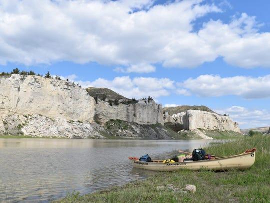 The White Cliffs of Montana were among most beautiful sections of trip, Kris Laurie said.