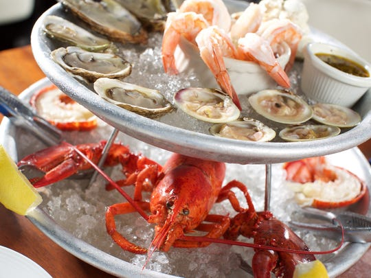 Seafood platter at Blue Pointe Oyster Bar and Seafood Grille