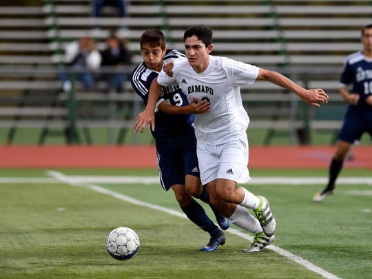 Ramapo's Sebastian Varela keys an attack that averaged