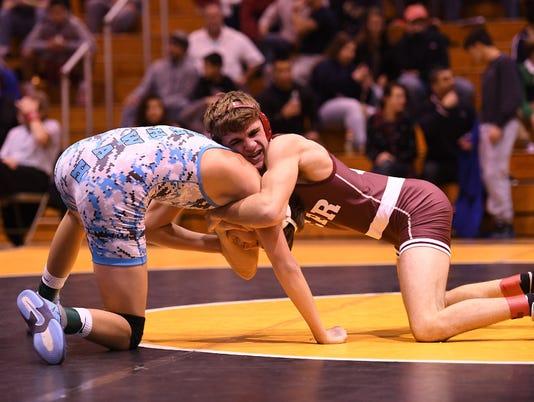 Luke Mazzeo wrestling