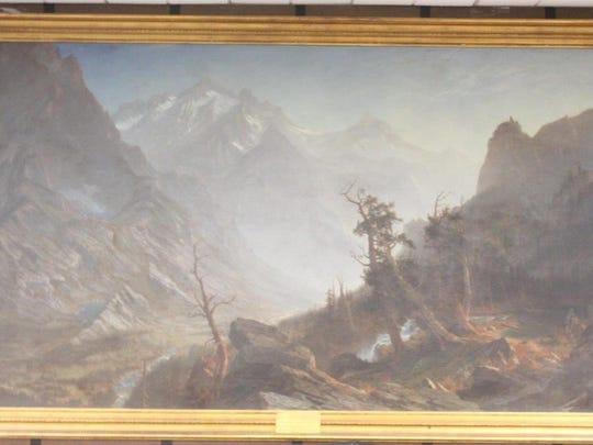 """Autumn in the Sierras"" painting by Albert Bierstadt."