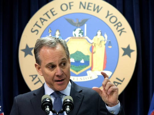 New York Attorney General Eric T. Schneiderman speaks
