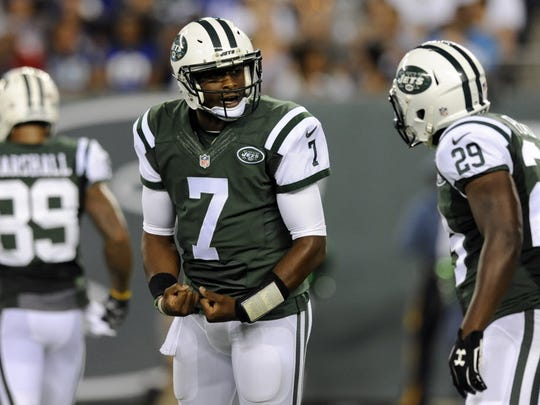Former Jets quarterback Geno Smith in an Aug. 29 preseason game against the Giants.