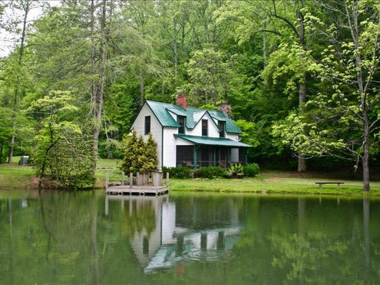 Big Creek Lodge and its small pond sit on the Mills