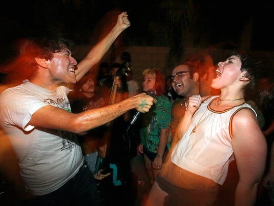 A backyard show in Coachella hosted by Jorge Gomez
