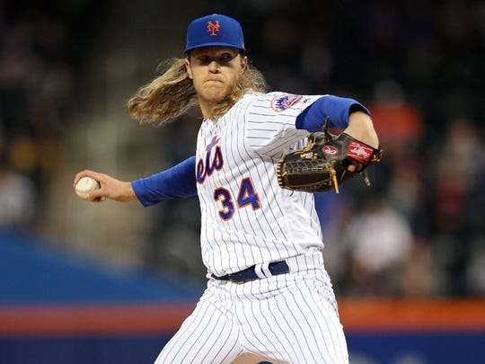 Noah Syndergaard allowed five runs (three earned) on seven hits against the Phillies on Thursday at Citi Field. Syndergaard struck out 10 batters.